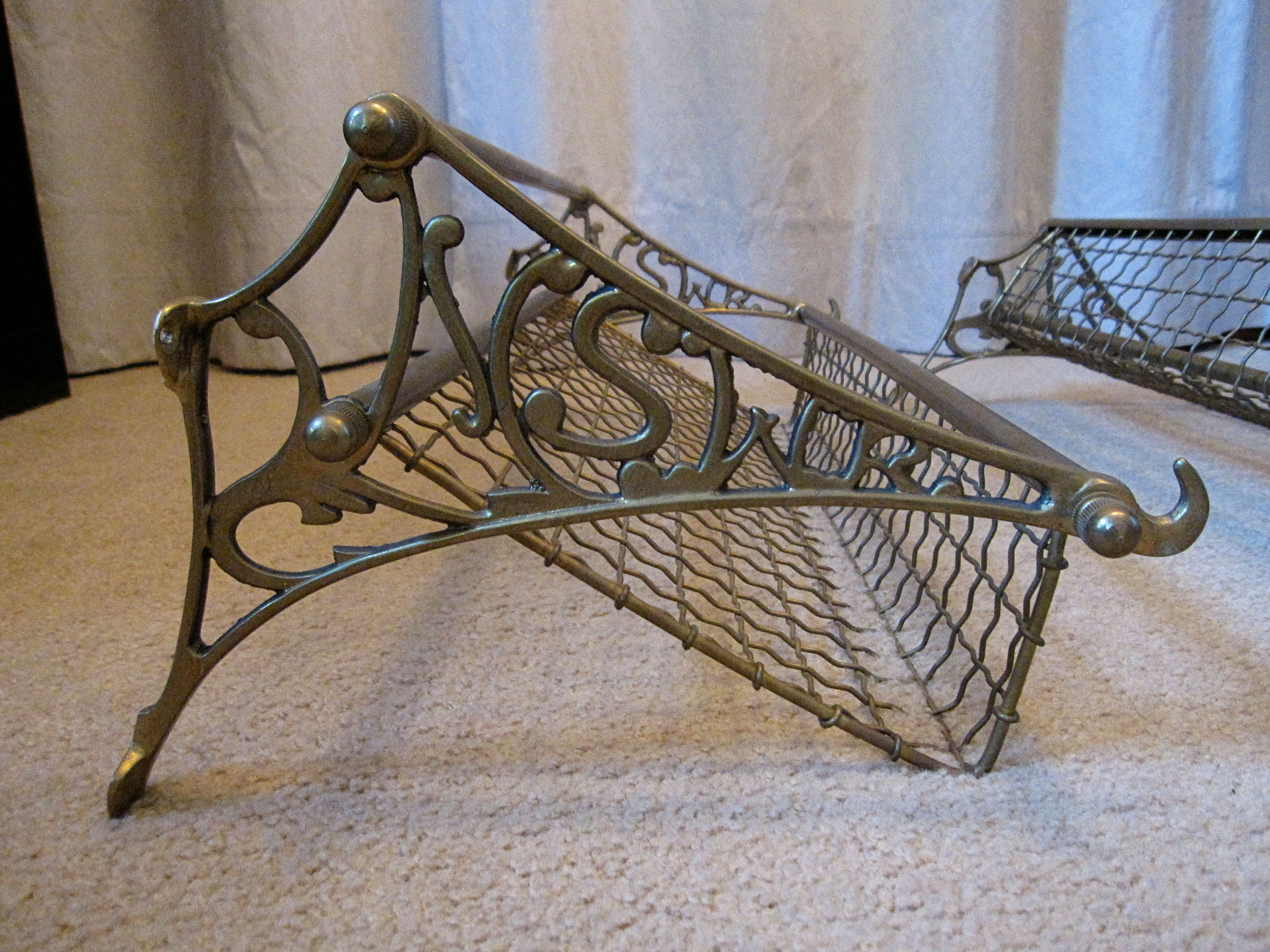 Vintage Luggage Rack With Mirror Train Luggage Racks