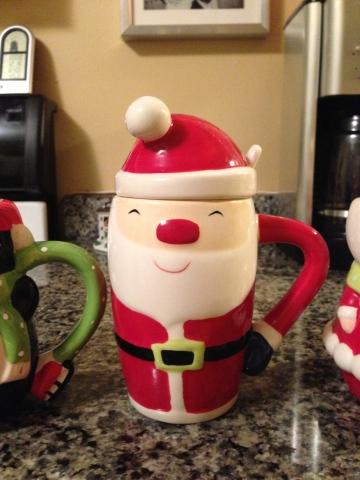target santa mug